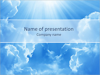 Light In The Sky PowerPoint Template