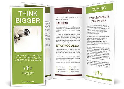 security web camera brochure template design id 0000004432