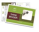 Security Web Camera Postcard Template