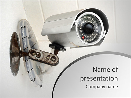 Camera powerpoint template smiletemplates security web camera powerpoint template toneelgroepblik Image collections