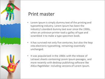 Manos € ™ s Childa En Paint Plantillas de Presentaciones PowerPoint