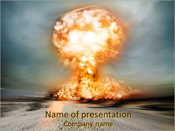 Huge Explosion PowerPoint Template