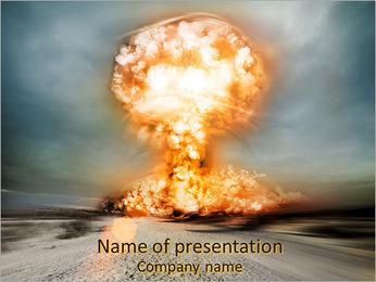 大爆発 PowerPointプレゼンテーションのテンプレート