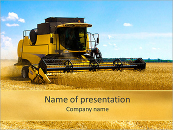 Harvesting Machine PowerPoint Template