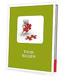 Red Puzzle Element Presentation Folder