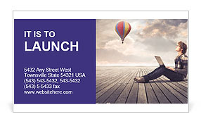Young Guy At Broadwalk Business Card Template