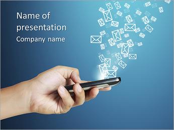 Enviar SMS Plantillas de Presentaciones PowerPoint