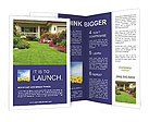 Cottage With Flowers Brochure Templates