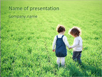 Two Small Friends PowerPoint Template