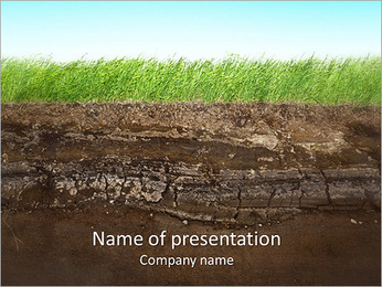 Herbe et le sol Modèles des présentations  PowerPoint - Diapositives 1