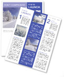 Winter Scenery Newsletter Templates