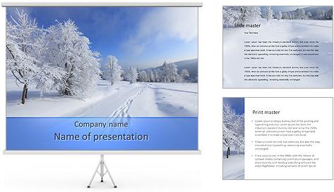 Зимние шаблоны для презентации powerpoint
