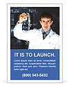 Man In Lab Ad Template