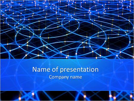 Les cercles bleus d'éclairage Modèles des présentations  PowerPoint