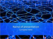 Blue Lighting Circles Modèles des présentations  PowerPoint