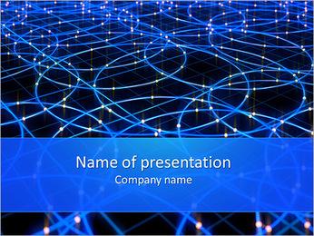 Les cercles bleus d'éclairage Modèles des présentations  PowerPoint - Diapositives 1
