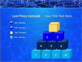 Les cercles bleus d'éclairage Modèles des présentations  PowerPoint - Diapositives 11