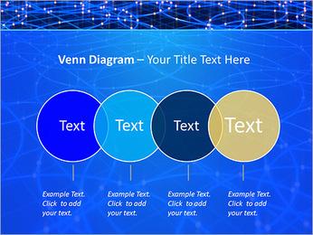 Les cercles bleus d'éclairage Modèles des présentations  PowerPoint - Diapositives 12