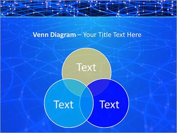 Les cercles bleus d'éclairage Modèles des présentations  PowerPoint - Diapositives 13