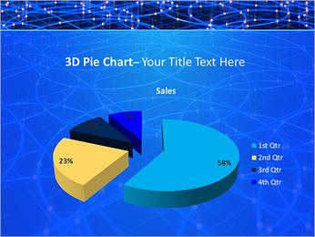 Les cercles bleus d'éclairage Modèles des présentations  PowerPoint - Diapositives 15