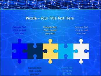 Les cercles bleus d'éclairage Modèles des présentations  PowerPoint - Diapositives 21