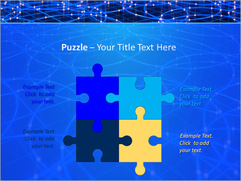 Les cercles bleus d'éclairage Modèles des présentations  PowerPoint - Diapositives 23