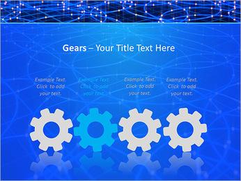 Les cercles bleus d'éclairage Modèles des présentations  PowerPoint - Diapositives 28