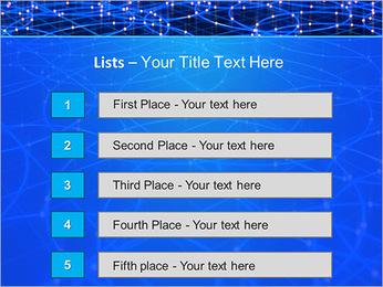 Les cercles bleus d'éclairage Modèles des présentations  PowerPoint - Diapositives 3
