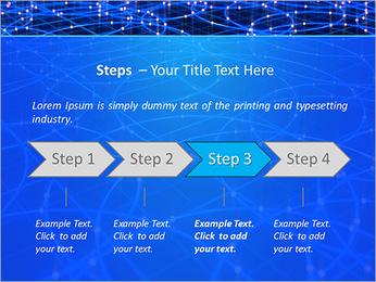 Les cercles bleus d'éclairage Modèles des présentations  PowerPoint - Diapositives 4