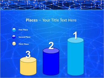 Les cercles bleus d'éclairage Modèles des présentations  PowerPoint - Diapositives 45