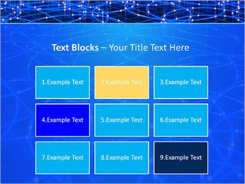 Les cercles bleus d'éclairage Modèles des présentations  PowerPoint - Diapositives 48