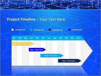 Les cercles bleus d'éclairage Modèles des présentations  PowerPoint - Diapositives 5