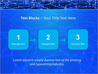 Les cercles bleus d'éclairage Modèles des présentations  PowerPoint - Diapositives 51