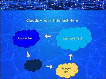 Les cercles bleus d'éclairage Modèles des présentations  PowerPoint - Diapositives 52
