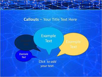 Les cercles bleus d'éclairage Modèles des présentations  PowerPoint - Diapositives 53