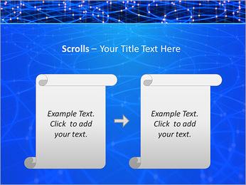 Les cercles bleus d'éclairage Modèles des présentations  PowerPoint - Diapositives 54