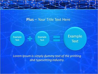 Les cercles bleus d'éclairage Modèles des présentations  PowerPoint - Diapositives 55