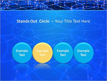 Les cercles bleus d'éclairage Modèles des présentations  PowerPoint - Diapositives 56