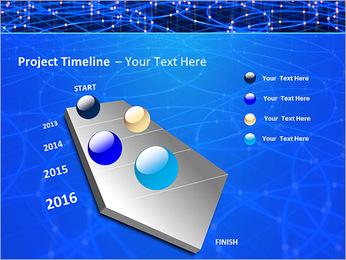 Les cercles bleus d'éclairage Modèles des présentations  PowerPoint - Diapositives 6