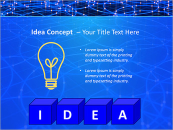 Les cercles bleus d'éclairage Modèles des présentations  PowerPoint - Diapositives 60