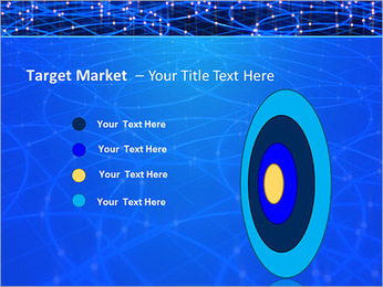 Les cercles bleus d'éclairage Modèles des présentations  PowerPoint - Diapositives 64