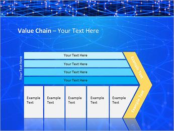 Les cercles bleus d'éclairage Modèles des présentations  PowerPoint - Diapositives 7