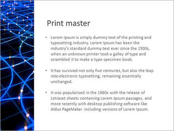 Les cercles bleus d'éclairage Modèles des présentations  PowerPoint - Diapositives 76