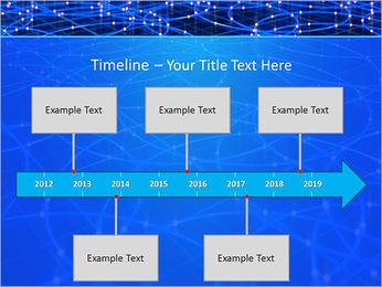 Les cercles bleus d'éclairage Modèles des présentations  PowerPoint - Diapositives 8