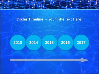 Les cercles bleus d'éclairage Modèles des présentations  PowerPoint - Diapositives 9