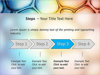Des cercles de couleur de conception Modèles des présentations  PowerPoint - Diapositives 4