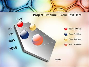 Des cercles de couleur de conception Modèles des présentations  PowerPoint - Diapositives 6