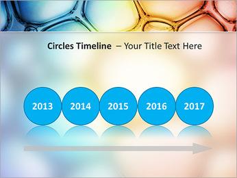Des cercles de couleur de conception Modèles des présentations  PowerPoint - Diapositives 9