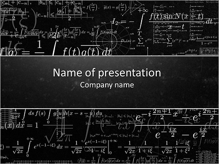 long math formulas powerpoint template backgrounds google slides