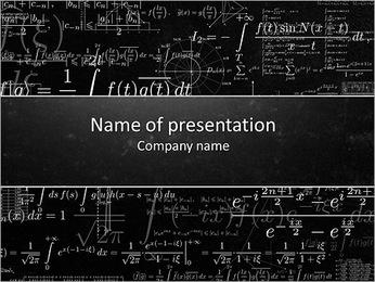 Long Math Formulas PowerPoint Template